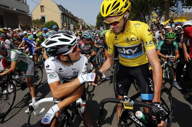 Michał Kwiatkowski i Chris Fromme /AFP