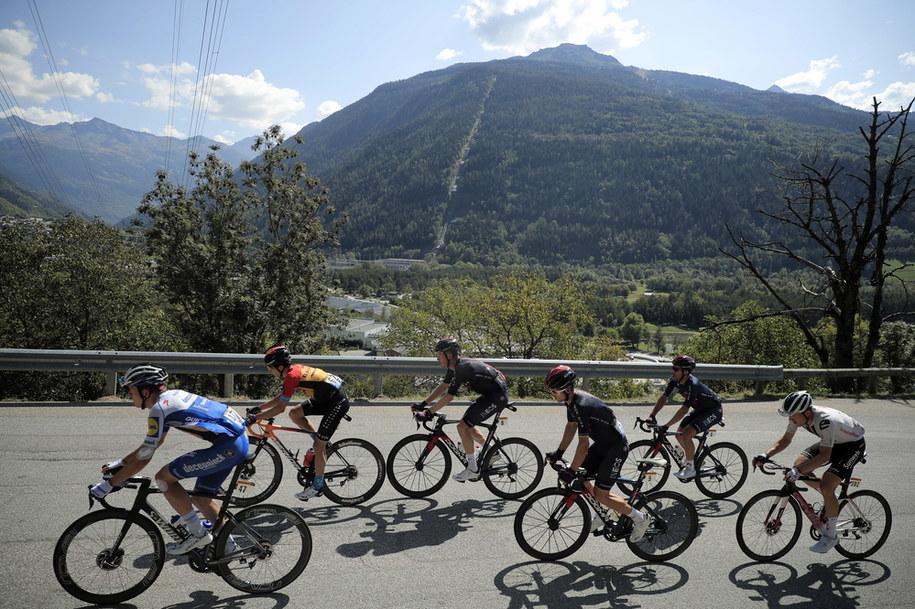 Michał Kwiatkowski (Ineos Grenadiers) wygrał 18. etap wyścigu kolarskiego Tour de France /CHRISTOPHE PETIT TESSON /PAP/EPA
