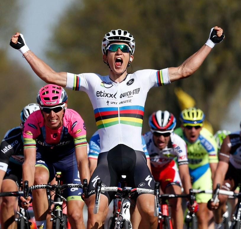 Michał Kwiatkowski wygrywa Amstel Gold Race w 2015 roku /AFP
