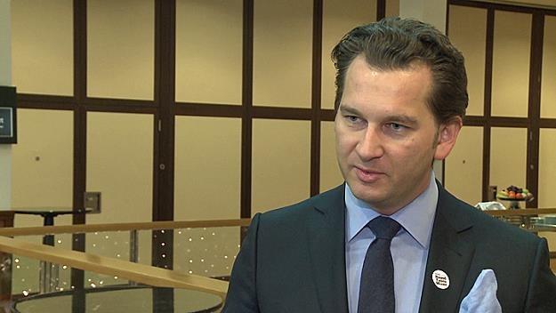 """Michał M. Lisiecki, właściciel i wydawca """"Wprost"""", """"Do Rzeczy"""" /Newseria Biznes"""