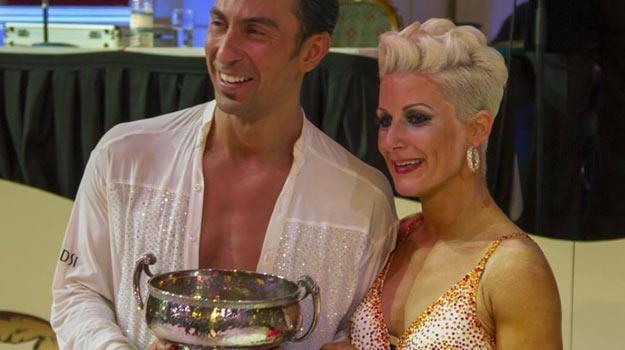 Michał Malitowski i Joanna Leunis po triumfie w Blackpool - fot. DSI London /