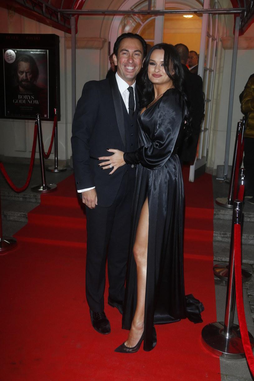Michał Malitowski z żoną /Baranowski /AKPA