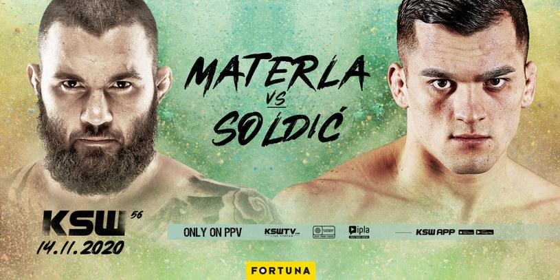 Michał Materla vs Roberto Soldić w walce wieczoru KSW 56 /Informacja prasowa