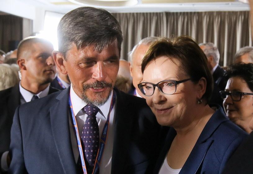 Michał Mazowiecki i Ewa Kopacz /Paweł Supernak /PAP