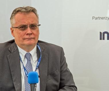 Michał Mrożek, prezes HSBC Bank Polska, w krynickim studiu Interii