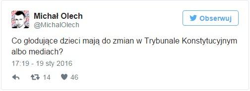 Michał Olech na Twitterze /Twitter