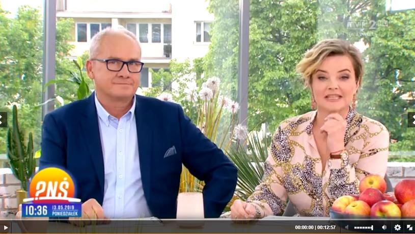 Michał Olszański i Monika Zamachowska (Screen: pytanienasniadanie.tvp.pl) /TVP /materiał zewnętrzny