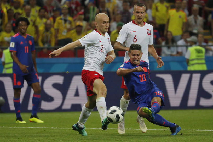 Michał Pazdan w meczu z Kolumbią /PAP/EPA