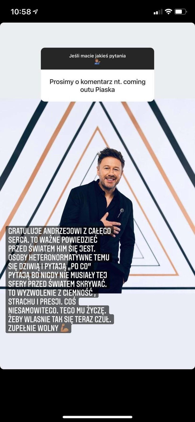 Michał Piróg komentuje wyznanie Piaska, fot. https://www.instagram.com/michalpirog/ /Instagram
