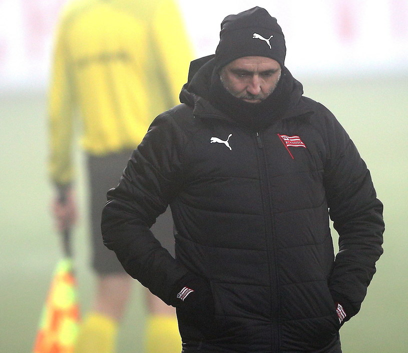 Michał Probierz, trener Cracovii //Łukasz Gągulski /PAP