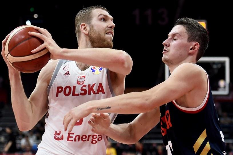 Michał Sokołowski w meczu z Rosją /AFP