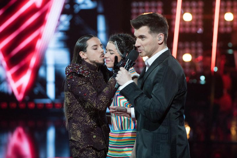 """Michał Szpak i Natalia Zastępa w """"The Voice of Poland"""" /Piotr Fotek /Reporter"""