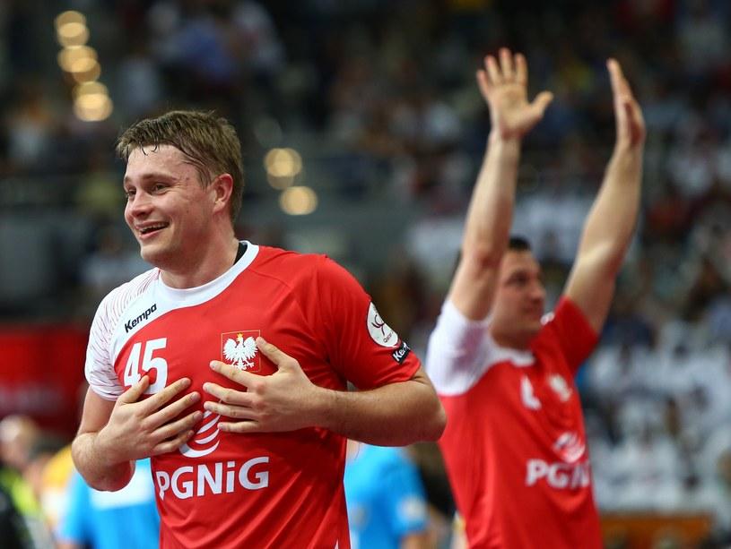 Michał Szyba podczas meczu z Hiszpanią /AFP