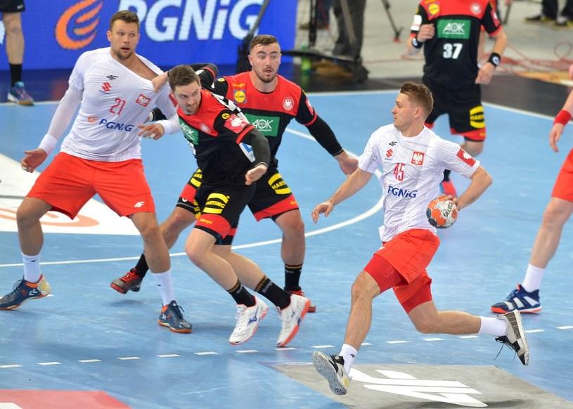 Michał Szyba (z piłką) /Łukasz Kalinowski /East News