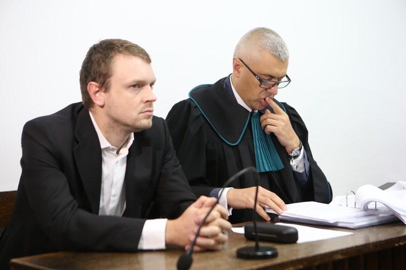 Michał Tusk w towarzystwie mecenasa Romana Giertycha /Tomasz Radzik /East News