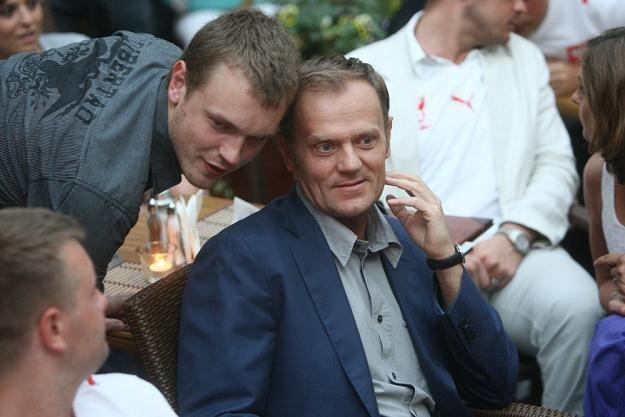 Michał Tusk z ojcem, fot. Łukasz Ostalski /Reporter