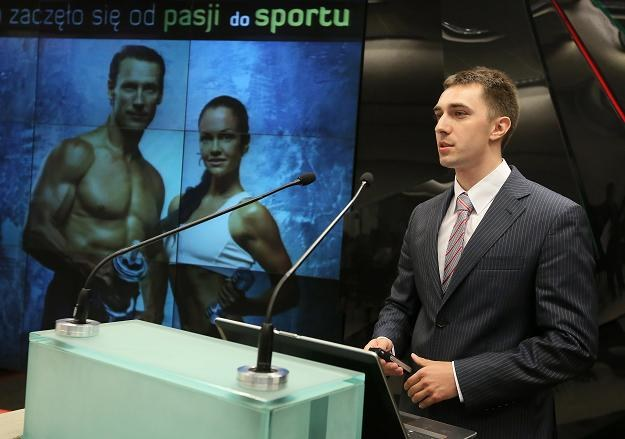 Michał Wasilewski, prezes Triceps.pl, podczas debiutu na NewConnect /PAP