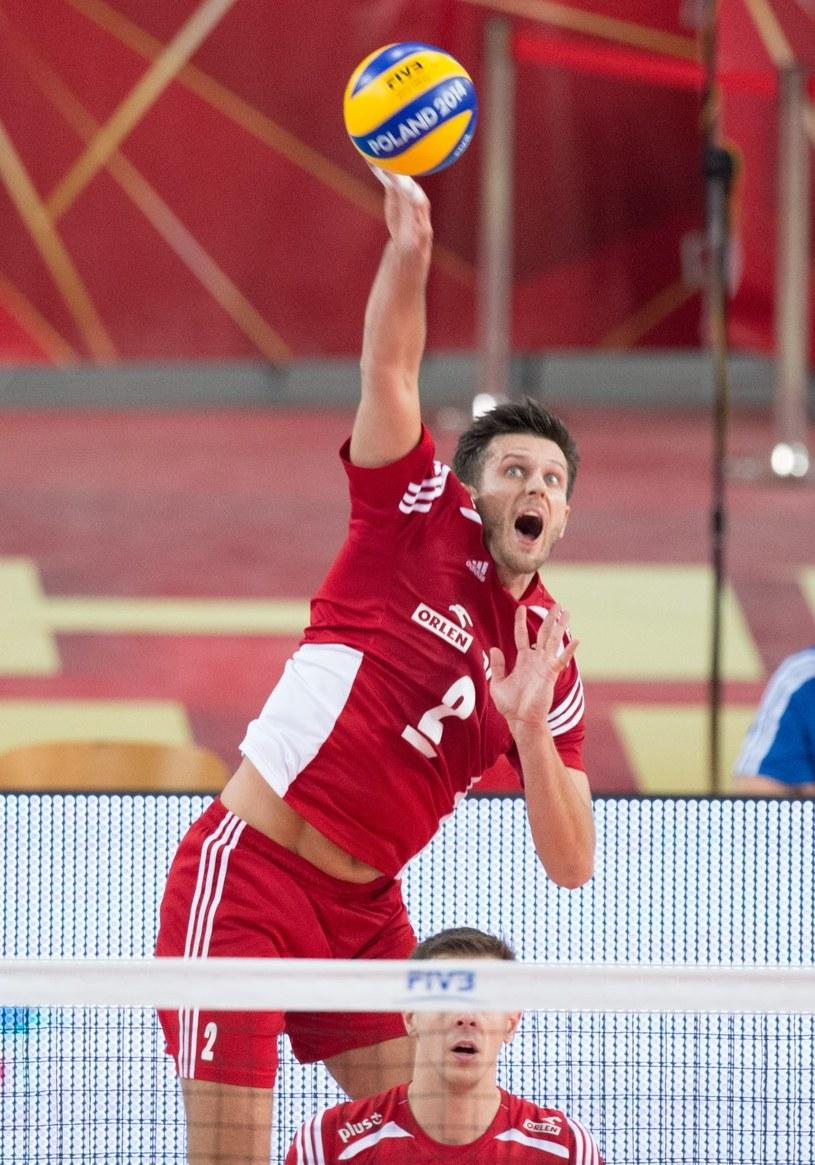 Michał Winiarski był naszym najmocniejszym punktem w meczu z USA. /Grzegorz Michałowski /PAP