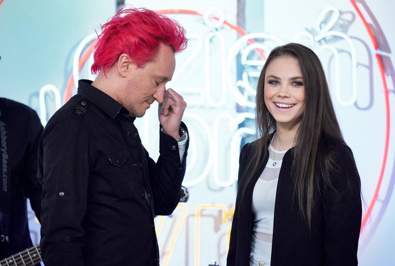 Michał Wiśniewski i Agata Buczkowska w 2017 r. /Bartosz Krupa/Dzień Dobry TVN /East News