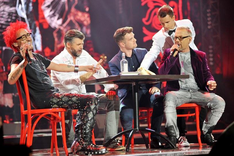 Michał Wiśniewski i Jacek Łągwa podczas koncertu w Spodku /Łukasz Kalinowski /East News