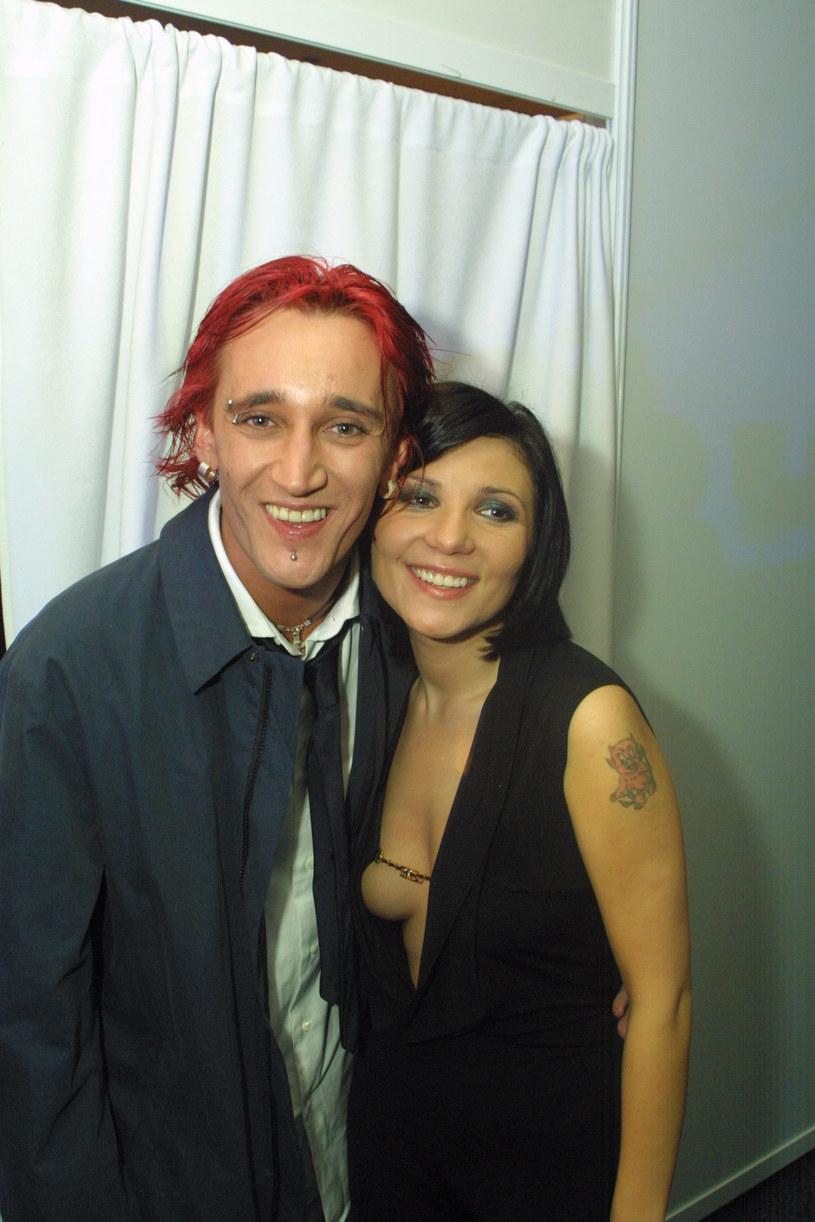 Michał Wiśniewski i Magda Femme w 2001 roku /Studio69 /Agencja FORUM