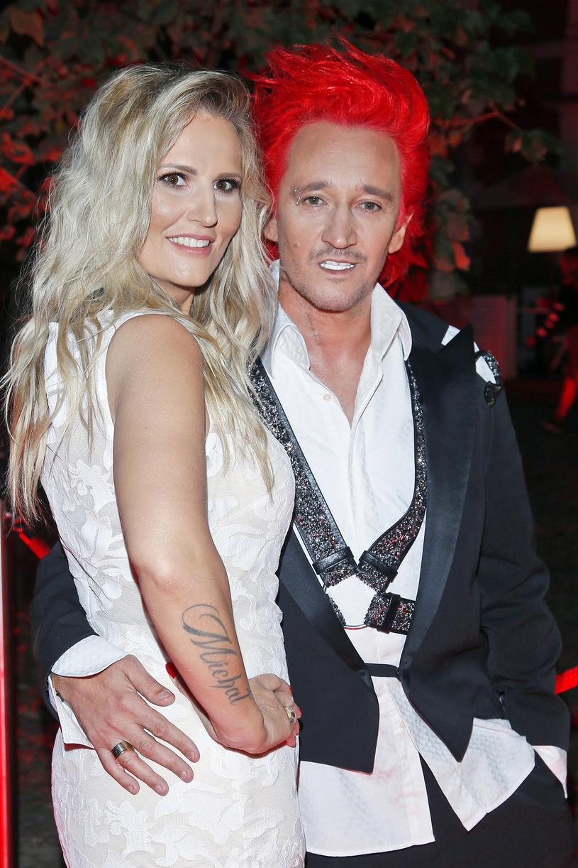 Michał Wiśniewski z żoną Dominiką Tajner-Wiśniewską /AKPA
