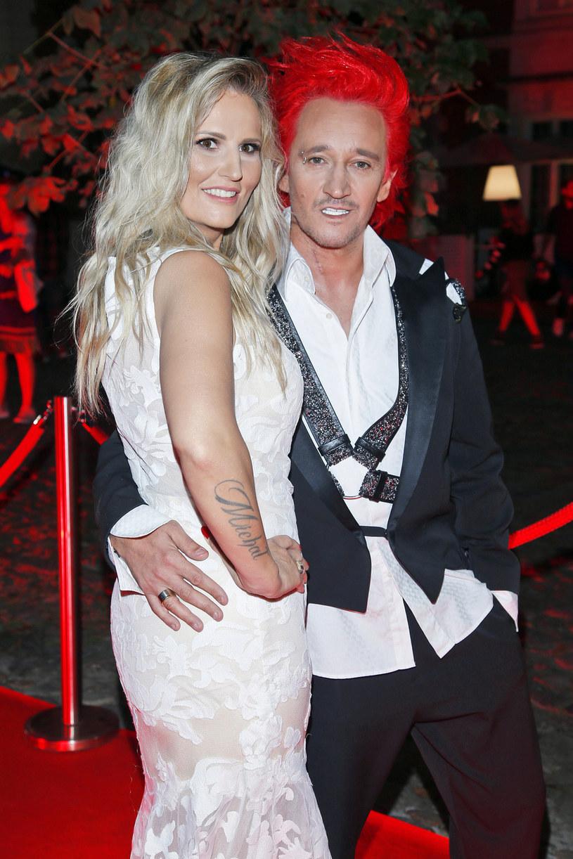 Michał Wiśniewski z żoną Dominiką Wiśniewską /AKPA