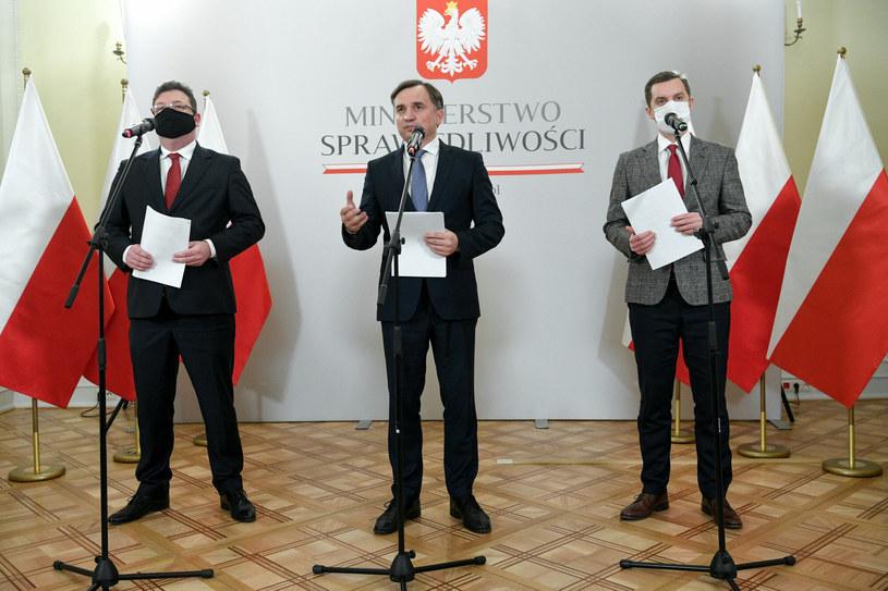 Michał Wójcik, Zbigniew Ziobro i Sebastian Kaleta / Jacek Dominski /REPORTER /Reporter