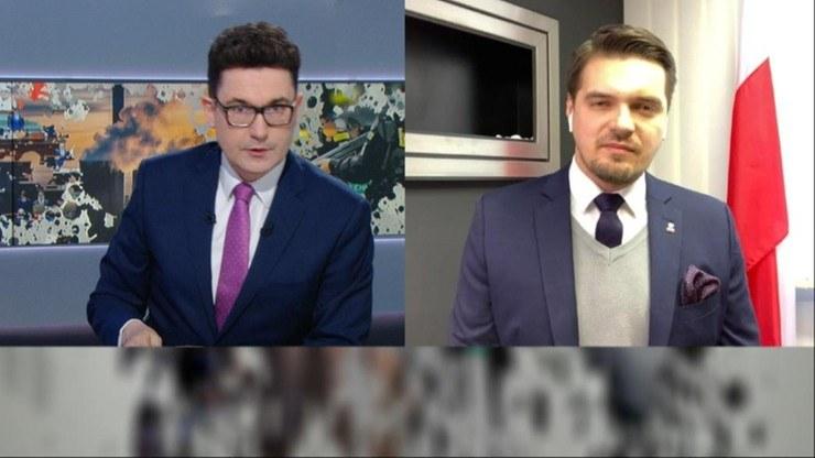"Michał Wypij gościem ""Graffiti"" /Polsat News"