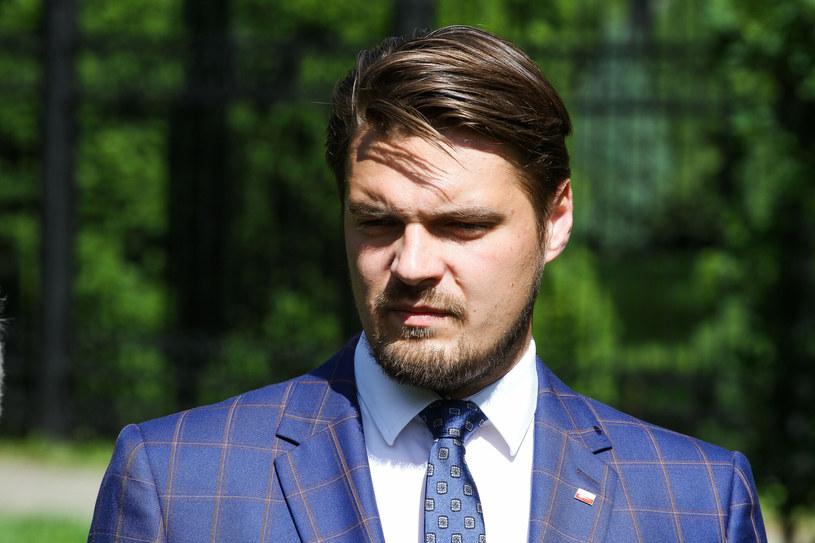 Michał Wypij na konferencji ws. szczepień na Warmii i Mazurach /Artur Szczepański /Reporter