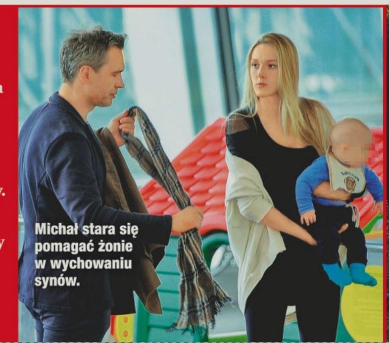 Michał z żoną i dzieckiem /- /Dobry Tydzień