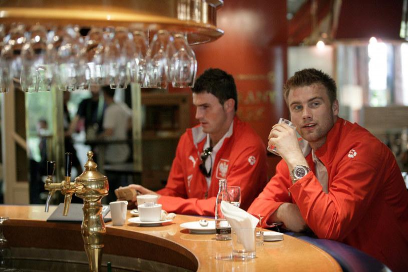 Michał Żewłakow i Artur Boruc (z prawej) podczas MŚ 2006 /East News