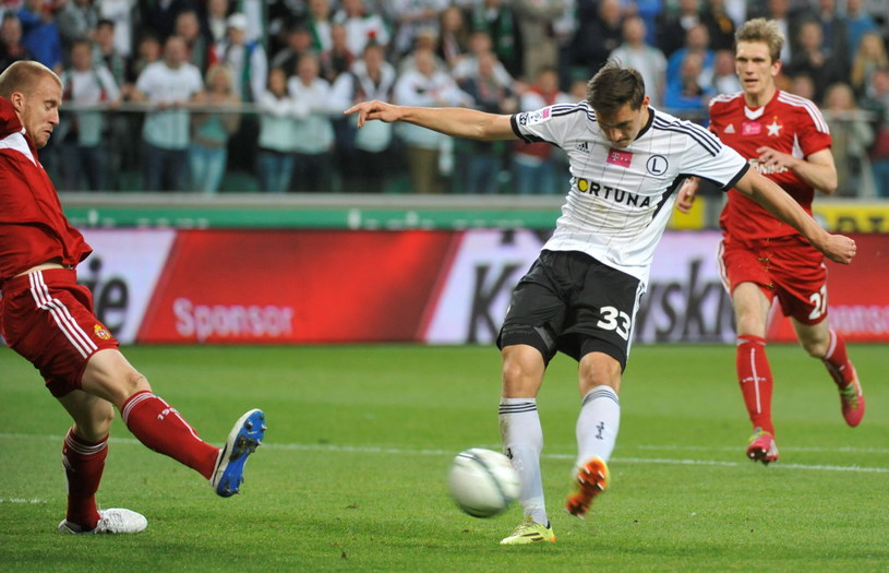 Michał Żyro strzelił gola i zaliczył asystę w meczu z Wisłą /Fot. Bartłomiej Zborowski /PAP