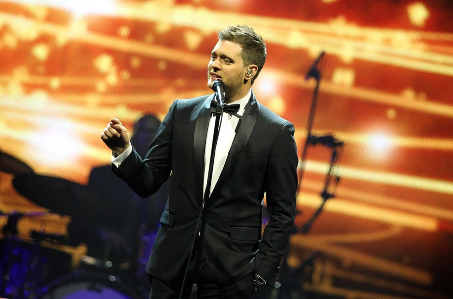 Michale Buble podczas koncertu w Londynie /foto.Suzan    /PAP/EPA