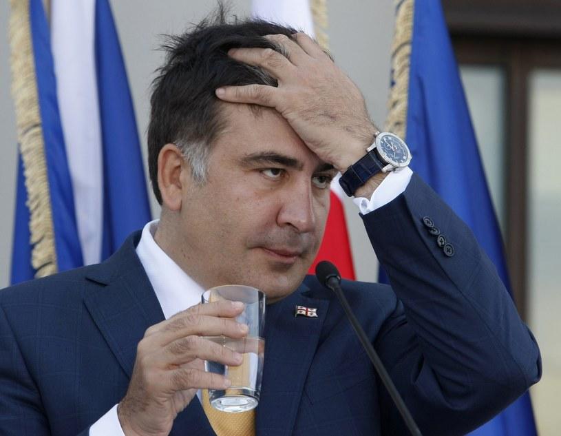Micheil Saakaszwili będzie zmuszony uciekać z kraju? /AFP