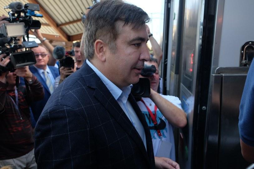 Micheil Saakaszwili skazany zaocznie przez gruziński są na 3 lata za nadużycie władzy /LUKASZ SOLSKI /East News