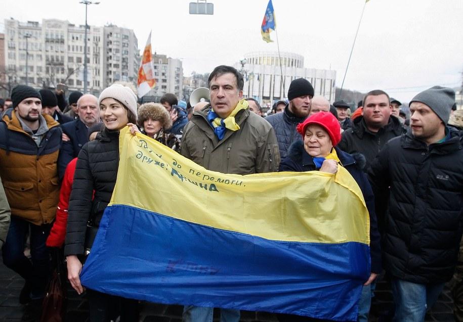 Micheil Saakaszwili /STEPAN FRANKO /PAP/EPA