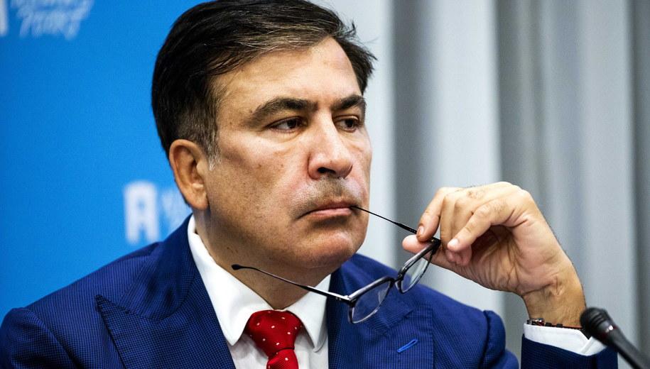 Micheil Saakaszwili / REMKO DE WAAL    /PAP/EPA