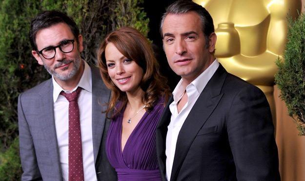 Michel Hazanavicius, Berenice Bejo i Jean Dujardin, fot. Kevin Winter /Getty Images/Flash Press Media