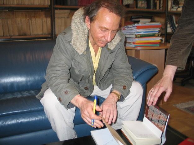 Michel Houellebecq w czasie wizyty w Krakowie  /Maciej Grzyb /RMF FM