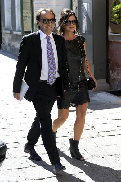 Michel Moran z żoną