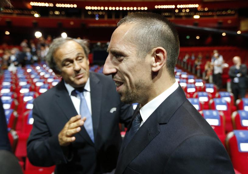 Michel Platini i Franck Ribery /AFP