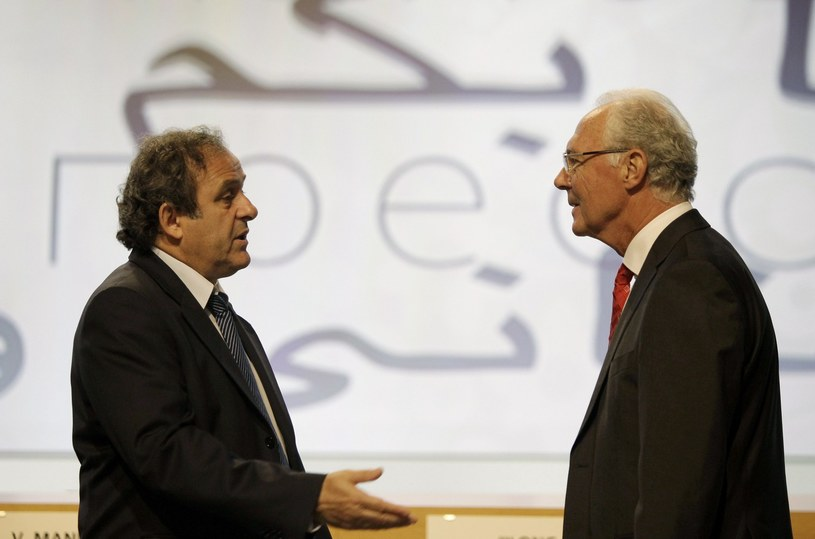 Michel Platini i Franz Beckenbauer /AFP