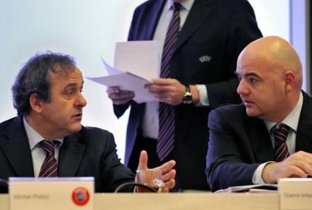 Michel Platini i Gianni Infantino /AFP