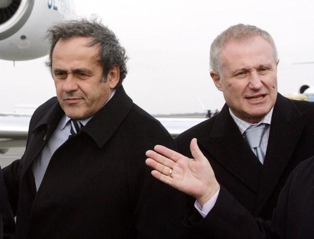 Michel Platini i Hryhorij Surkis /AFP