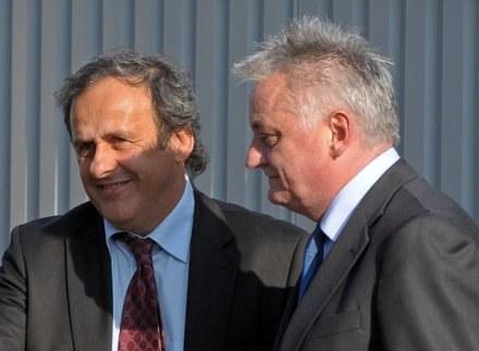 Michel Platini i Mirosław Drzewiecki /AFP
