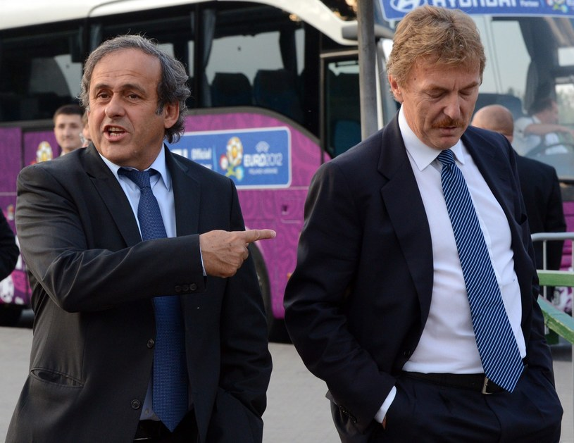 Michel Platini i Zbigniew Boniek /AFP
