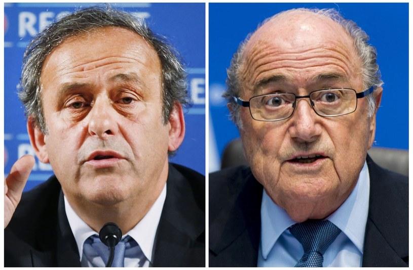 Michel Platini (z lewej) i Joseph Blatter /AFP
