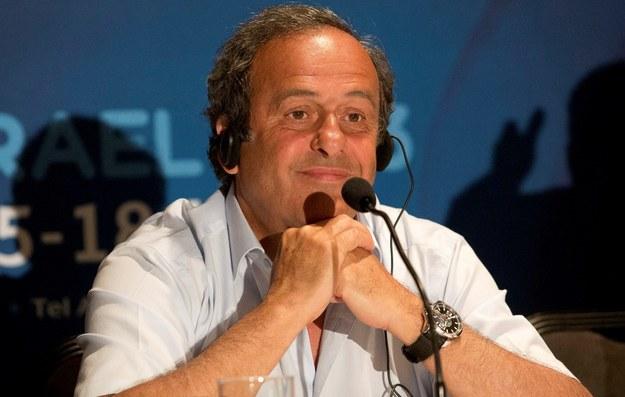 Michel Platini /PAP/EPA/ABIR SULTAN / POOL /PAP/EPA