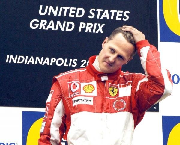 Michel Schumacher na podium - zmęczony? /AFP